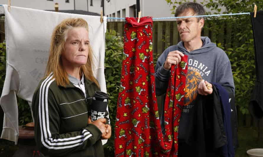PIP claimant Helen Purdon, with partner and carer John Restick, in North Ayrshire, Scotland
