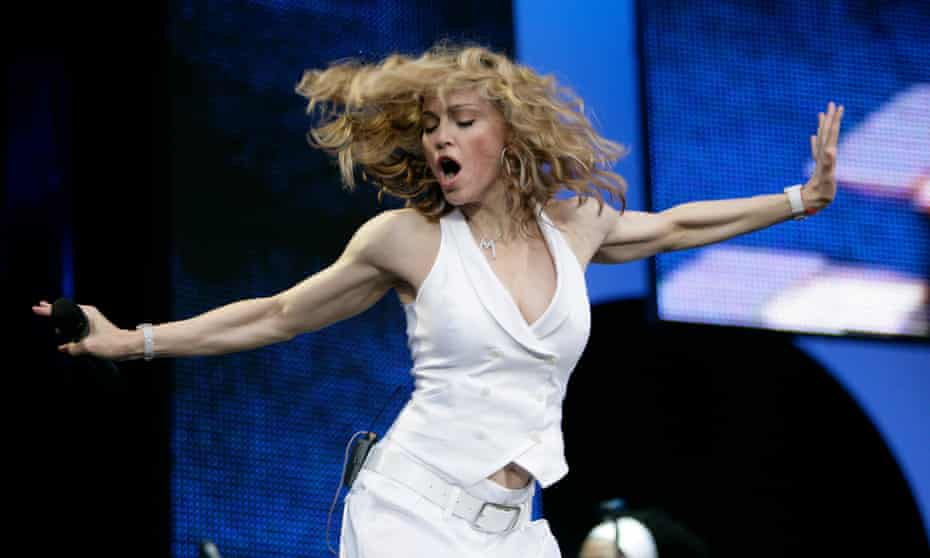 Madonna on stage at Live8 in 2005.