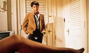 Hoffman in his breakthrough hit, the Graduate.