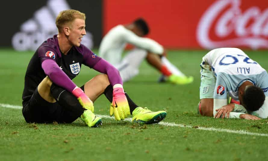 The England players cannot believe what has happened after an abject performance ended in Euro 2016 exit at the hands of Iceland.