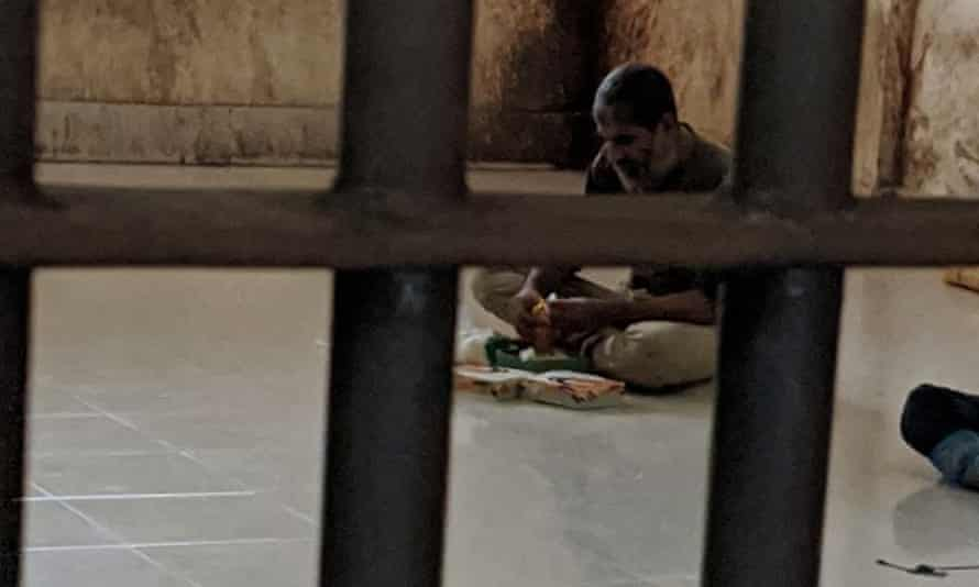 Shafiqul Islam Kajol after his arrest in Bangladesh.