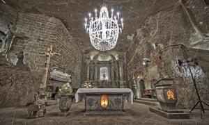 The Chapel of St Kinga in Wieliczka Salt Mine.