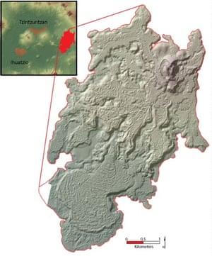 Laser scanning reveals lost ancient mexican city had as many the city of angamuco which occupies a lava field on the eastern edge of the fandeluxe Image collections