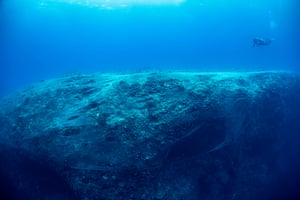 A ghost net completely covers Kimud Shoal
