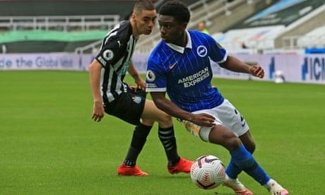 Tariq Lamptey dazzles in Brighton's win at Newcastle but Bissouma sent off