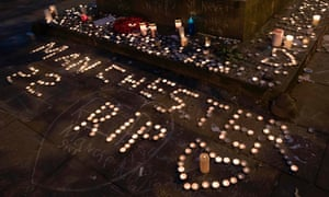 Tributes left to victims of the Manchester Arena attack in May.