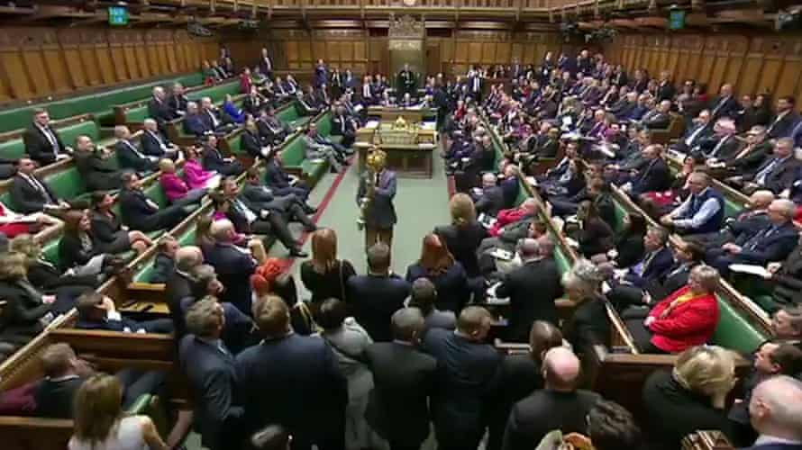 Labour MP Lloyd Russell-Moyle takes the mace from the Chamber during proceedings