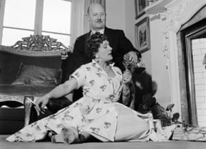 TV cook Fanny Craddock enjoys a medicinal sherry with her husband, Johnny