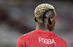Pogba of Manchester United with bleached hair