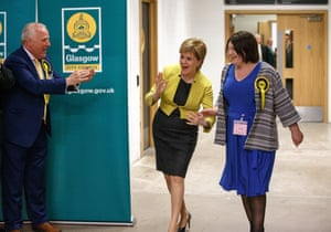 SNP leader Nicola Sturgeon at local council elections in Scotland