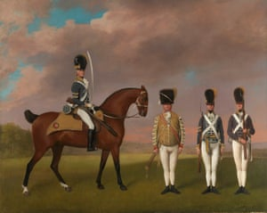 Toy soldiers … Soldiers of the 10th Light Dragoons, 1793.
