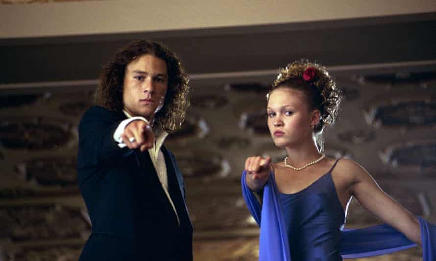 Heath Ledger and Julia Stiles in 10 Things I Hate About You.