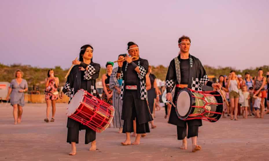 Performers at 2020's Shinju Matsuri in Broome