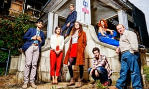 The cast of Channel 4 comedy Crashing