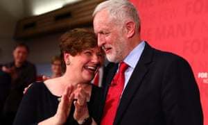 Emily Thornberry with Jeremy Corbyn at the Labour event in Basildon.