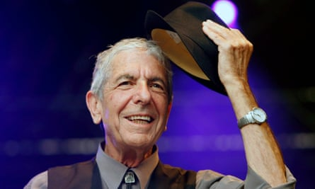 Leonard Cohen on stage in 2008.