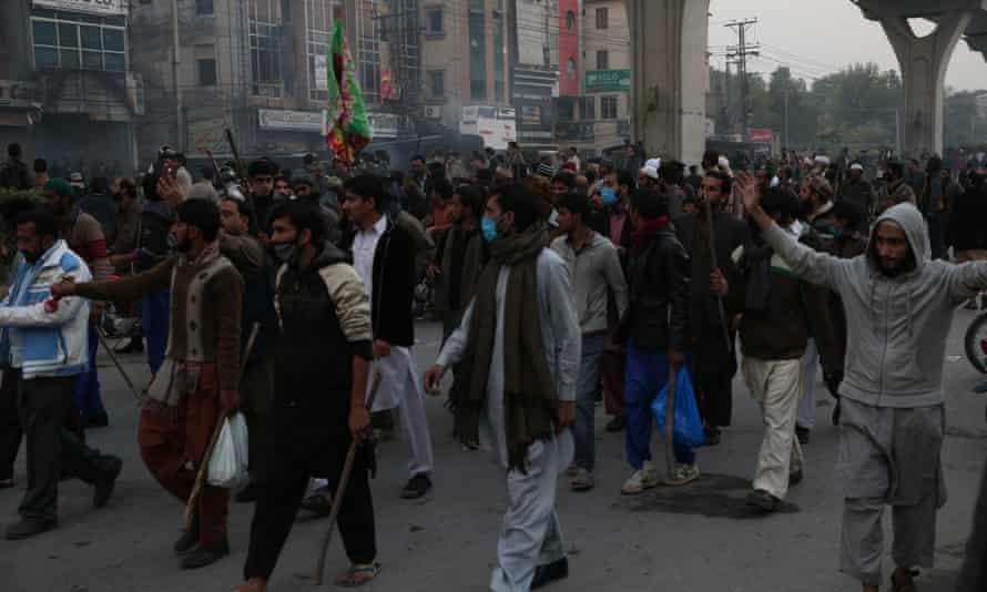 Protesters is Islamabad, Pakistan on Saturday