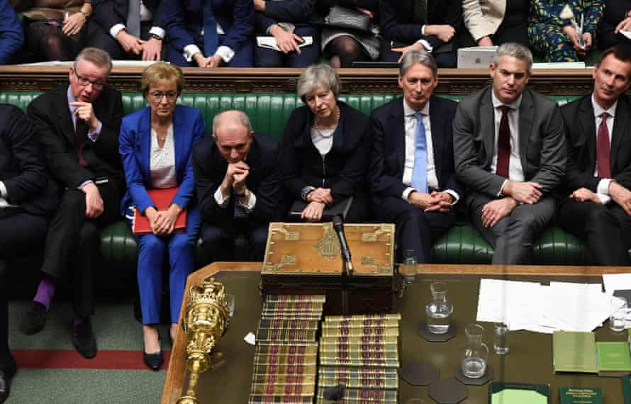 The Conservative front bench on Tuesday, 15 January.