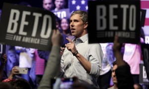 Beto O'Rourke speaks during a campaign rally in Grand Prairie, Texas, Thursday, 17 October 2019.