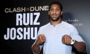 Anthony Joshua has arrived in Riyadh for his heavyweight rematch with Andy Ruiz Jr on Saturday.