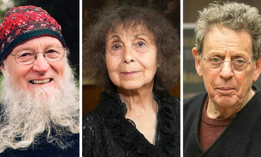 Terry Riley, Sofia Gubaidulina and Philip Glass, who have all been guests at Louth's contemporary music society.