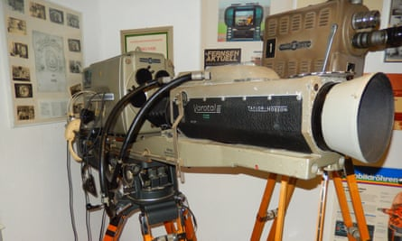 … and the TV camera that captured it.