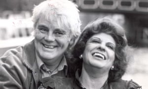 Tony Booth with his second wife, the Coronation Street actor Pat Phoenix, in 1983.