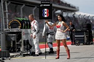 In 2018 F1 did away with 'grid girls', saying 'this custom does not resonate with our brand values and is clearly at odds with modern day societal norms'