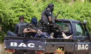Heavily armed Malian security forces