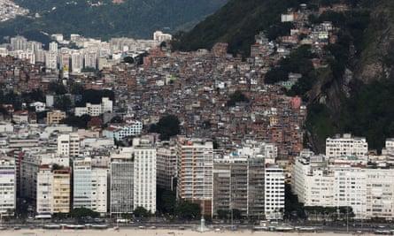 Pavao-Pavaozinho slum in Rio de Janeiro, Brazil.