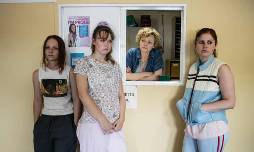 Peake in Three Girls, with Molly Windsor, Liv Hill and Ria Zmitrowicz