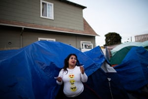 Tracy Lee, 36, lives at 37MLK. A local official is looking to the camp as a model for other encampments.
