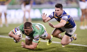 Canberra score a try