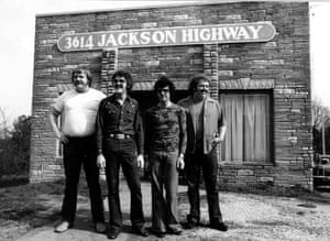 The Muscle Shoals Rhythm Section ... from left, Barry Beckett, Roger Hawkins, David Hood and Jimmy Johnson