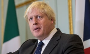 Boris Johnson on the eve of his departure for Tehran.