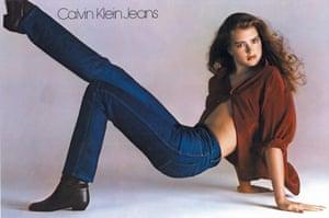 Brooke Shields in the 1980 Calvin Klein jeans advert.