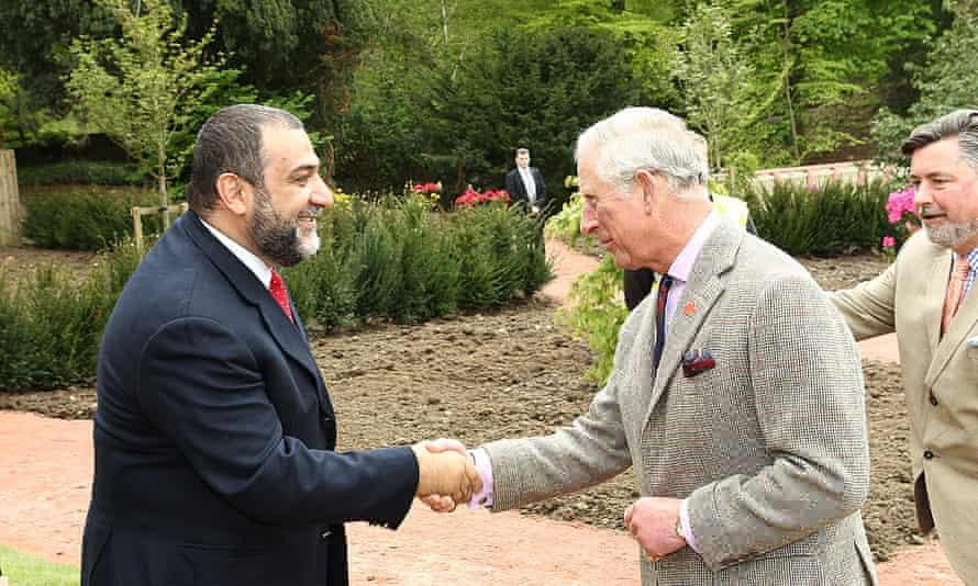 Ruben Vardanyan with Prince Charles at Dumfries House, Scotland.