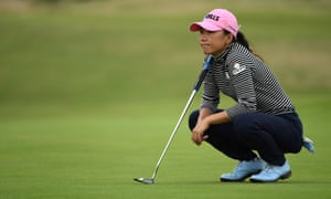 Korea's In-Kyung Kim ponders a putt at the British Open