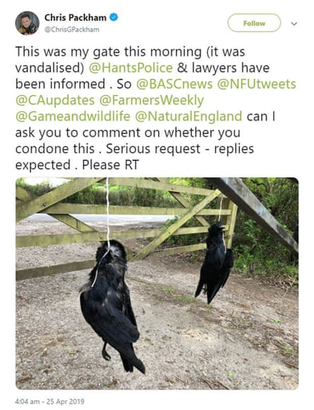 A tweet posted by Chris Packham.