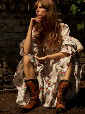 Phoebe dress, £365, doonelondon.com. Boots, £175, celticandco.com