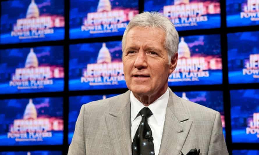 Alex Trebek during a Jeopardy! rehearsal in Washington DC on 21 April 2012.