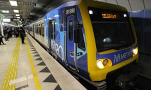 A city loop train in Melbourne