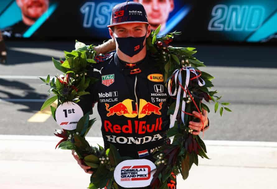 Max Verstappen enjoys sedate jaunt on carousel in sprint qualifying race |  British Grand Prix | The Guardian