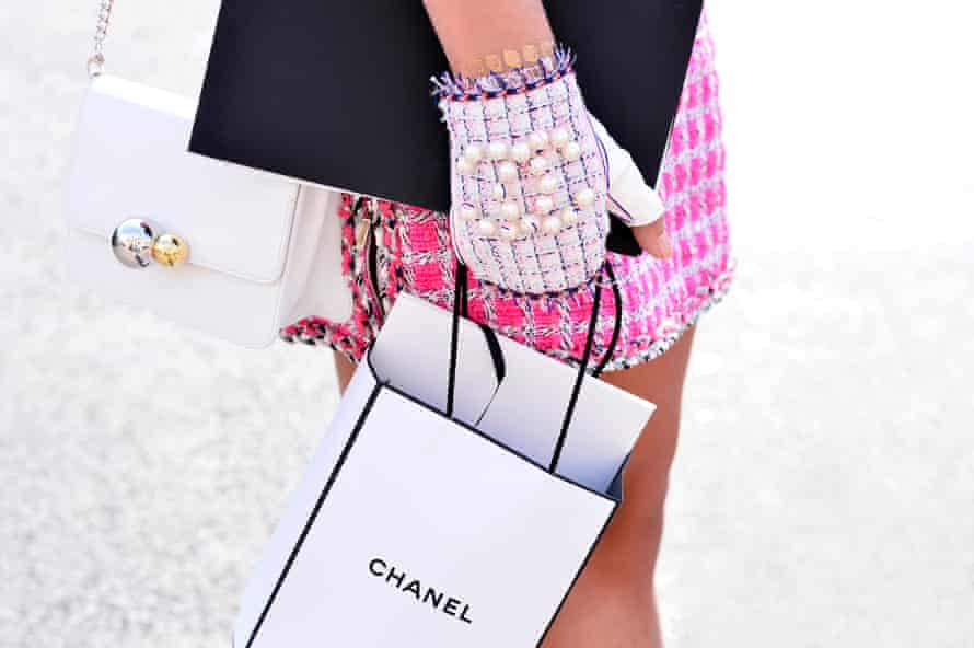 Rich kids will take pictures of anything if it's got the Chanel logo on it.