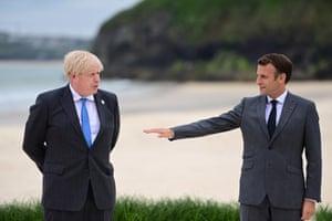 Johnson and Macron