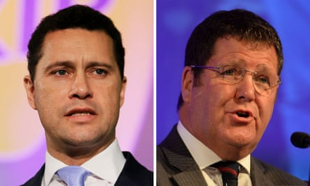 MEPs Steven Woolfe, left, and Mike Hookem, who have been referred to French police.