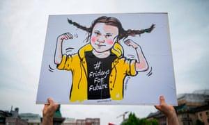 Greta Thunberg banner
