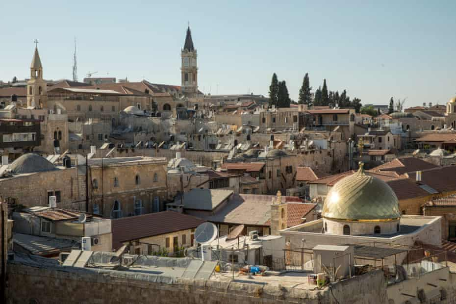 The view from the roof of the Citadel youth hostel in the Old City