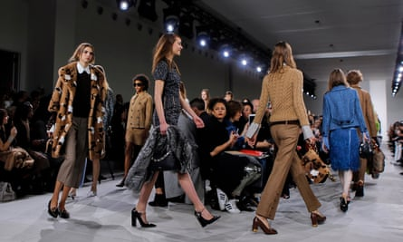 Catwalk presentation from the Michael Kors Fall/Winter 2016 collection.
