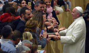 Pope Francis meets Vatican employees